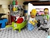 Homer e Ned in garage
