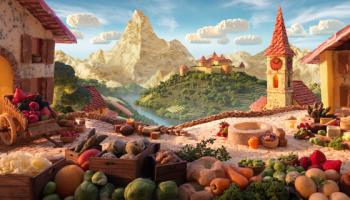 Foodscapes, i paesaggi gastronomici di Carl Warner