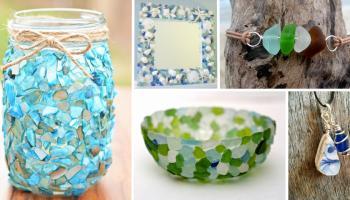 23 Idee creative per utilizzare i vetrini colorati raccolti in spiaggia