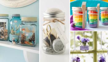 25 idee creative per riutilizzare i barattoli di vetro