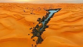 I laghi di Ubari in Libia, un'oasi in un mare di sabbia