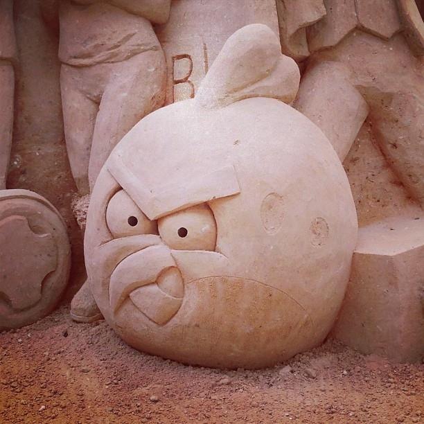 Angry Birds di sabbia