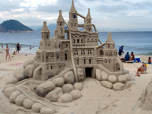 Castello di sabbia imponente