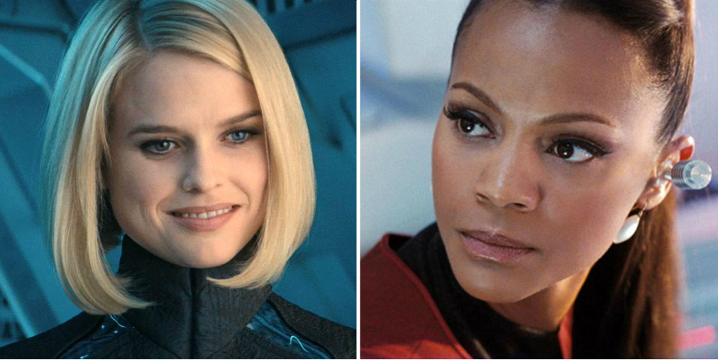 Alice Eve e Zoe Saldana in Star Trek Into Darkness