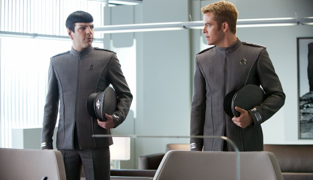 Star Trek Into Darkness - Zachary Quinto e Chris Pine
