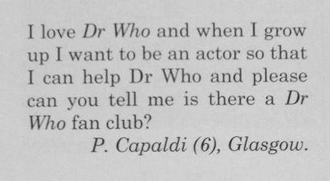 Capaldi fan di 6 anni