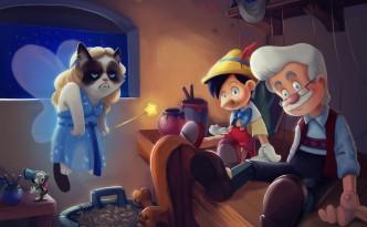 Grumpy Cat in Pinocchio