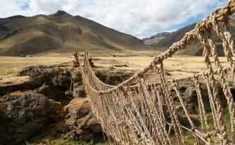 Ponte di corda in Perù