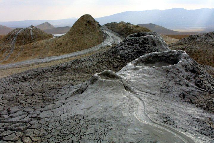 Vulcani di fango in Azerbaijan