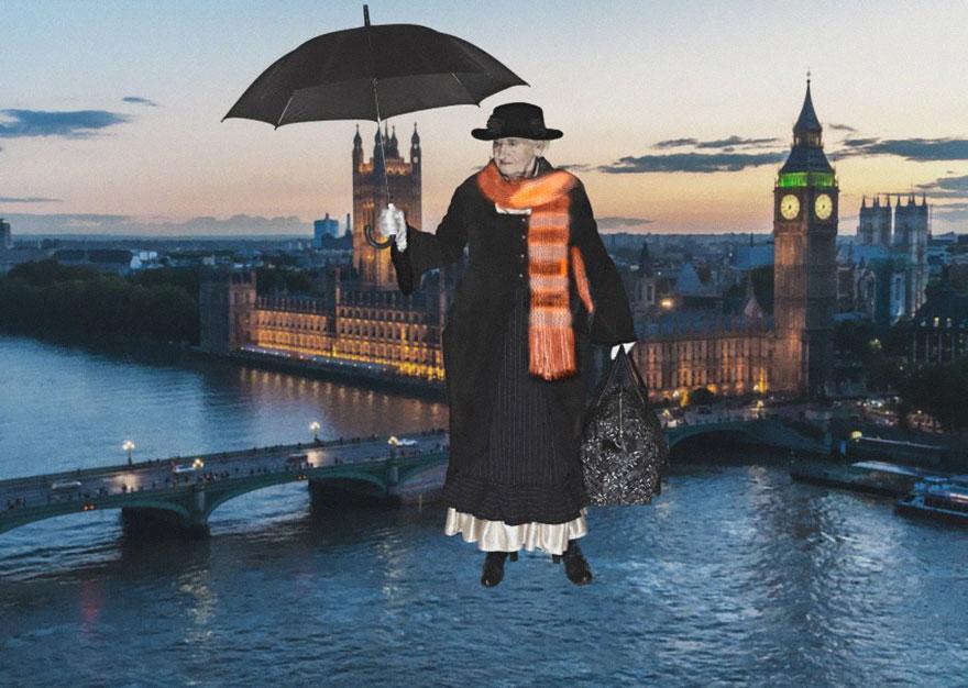 Mary Poppins con anziani