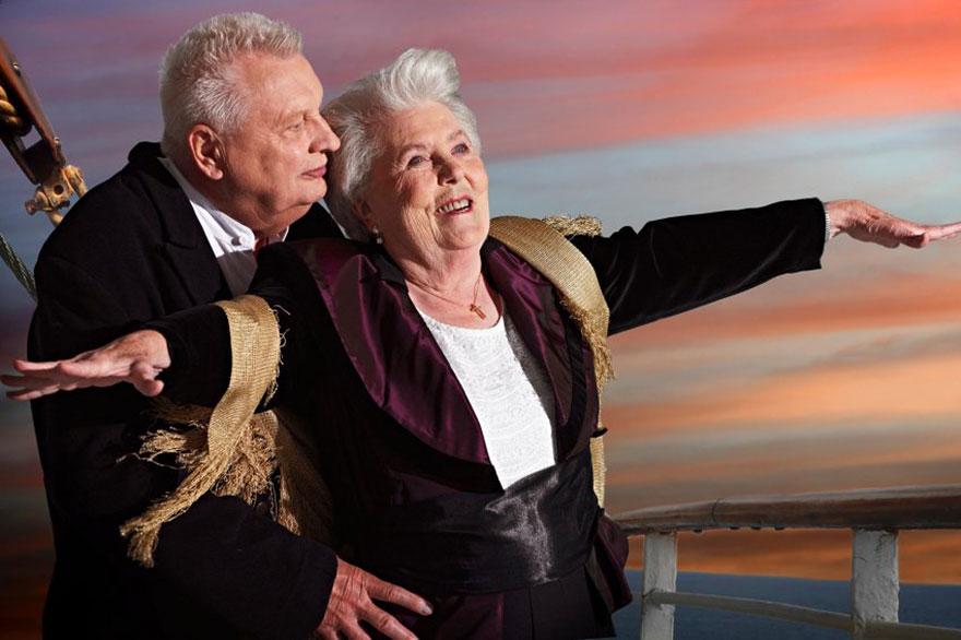 Titanic con anziani