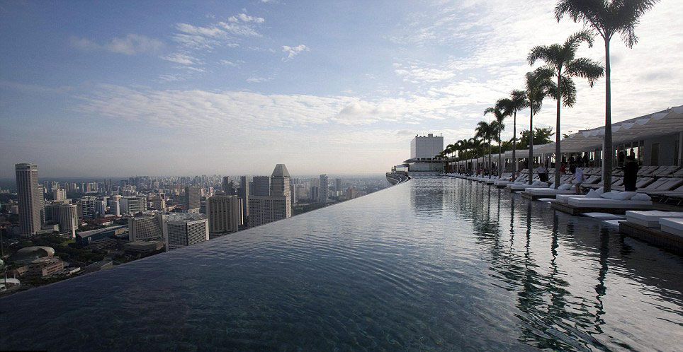 Piscina di Marina Bay Sands Hotel