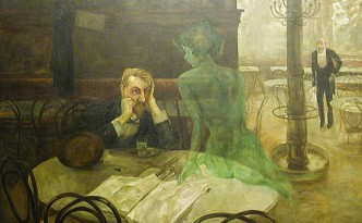 Viktor Oliva - The absinthe drinker - 1901