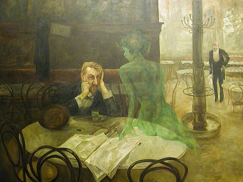 Viktor Oliva - The absinthe drinker - 1901