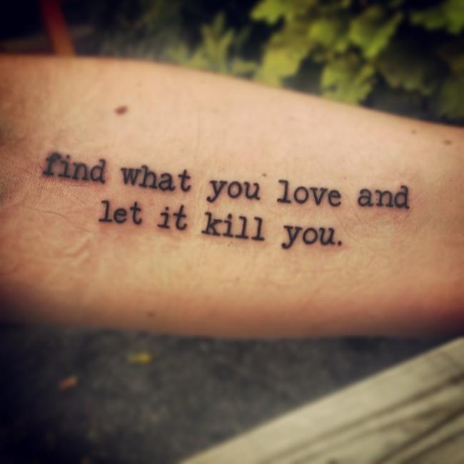 10 Love Quote Tattoos For Men Images And Pictures: 27 Tatuaggi Ispirati Ai Libri Per Gli Amanti Della