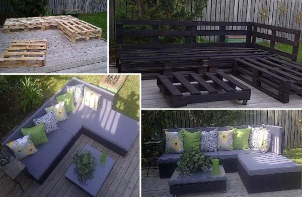 Mobili Da Giardino Con Pallet : Arredare con i pallet: 41 idee per il riuso dei bancali di legno