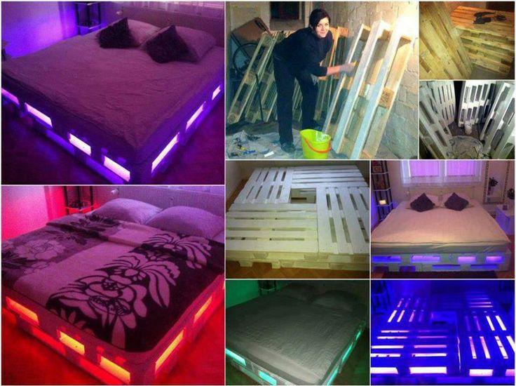 Letti Fatti Di Pallet : Letti fatti di pallet: come costruire un letto con pallet riciclati