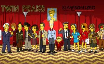 Personaggi di Twin Peaks in versione Simpson
