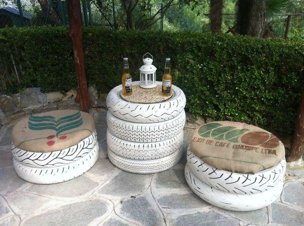 Famoso 21 Idee per il riciclo creativo degli pneumatici usati - GIZZETA KR39