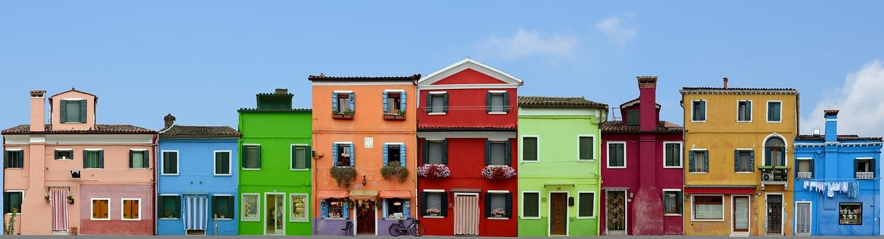 Panorama di Burano in Veneto