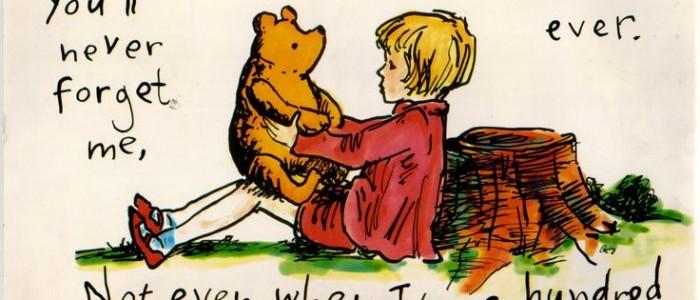 Illustrazione originale Winnie The Pooh e Christopher Robin